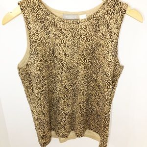 Liz Claiborne Sleeveless Animal Print Top